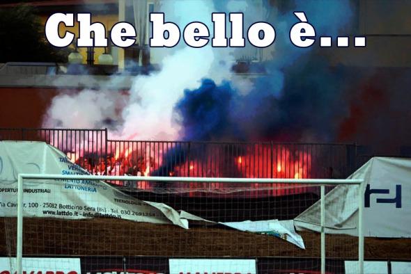 SPORT CALCIO SALO' AMICHEVOLE BRESCIA CHIEVO VERONA NELLA FOTO  TIFOSI BRESCIA 29-07-2015 AGENZIA REPORTER ZANARDELLI